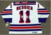Mens # 11 MARK MESSIER New York Rangers 1994 CCM Vintage Home Hockey Jersey o personalizzato qualsiasi nome o numero retrò Jersey