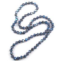 e677d9763849 MOODPC Fashion Bohemian Jewelry largo Halsband Multi facetado brillante  cristal anudado collar envío gratis