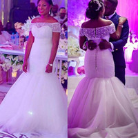 Plus Size Mermaid Wedding Dresses South African Off Shoulder...