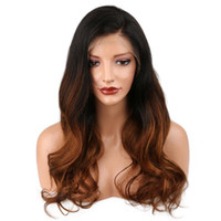 360 полный парик человеческих волос шнурка предварительно сорвал 150% плотность бразильский Remy волос ombre цвет T 1B / 4 натуральная волна парик человеческих волос