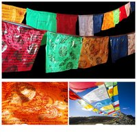 6. 7Meters 20 pieces string Tibetan Buddhist Print Scriptures...