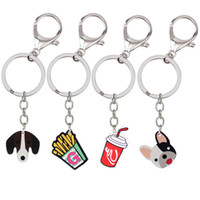 Mini Cute French Fries Cola Red Fallout Keychain dog keyring...