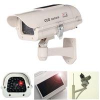 Solar Power Fake Dummy Simulation Camera CCTV Security Surveillance LED lampeggiante 7pcs