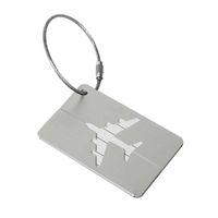 Accessori da viaggio bagagli Tag copertura creativo dei metalli Aircraft Valigia ID Indirizzo del titolare del bagaglio d'imbarco Tag portatile Label