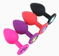 Silikon Mini Anal Sex Spielzeug Für Frauen Männer Erotische Butt Plugs Kristall Schmuck Erwachsene Beute Perlen Anus Produkte schnelles verschiffen