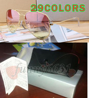 10set summer men gradient Sunglasses + case outdoors Mujeres de la moda que conducen Sunglasses 29 color con el embalaje original envío gratis