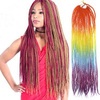 Sara Afro Colorful Soft Dread Lock & Ombre Braiding Hair Ext...