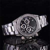 High Quality Men' s  Women' s Quartz Watch Big Diamo...