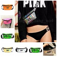 6 Colors PINK Letter Clear Logo Fanny Pack Waist Rainbow Hol...