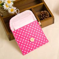 Sanitária guardanapos pacote Multi Color Cotton Polka Dot impressão menstruais Pads saco de armazenamento Hot Sale 0 5HJ C