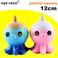 Décompression Enfants Jouets PU Simulation Starry Sky Couleur Animal Squishies Octopus Forme Squishy Blue rose