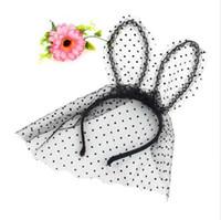 Kostüm Party Stirnband Sexy Lace Veil Mask Bunny Dot Katzenohren Haarband Kopfschmuck