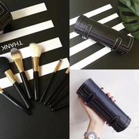 M Марка 9 шт макияж кисти Set Kit Путешествия Beauty Professional Wood Handle Foundation Губы Косметика Макияж кисти DHL бесплатно