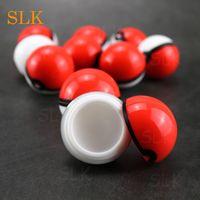 Пятно масла силиконовые контейнеры силиконовые jar dab восковые контейнеры многоразовые 6 мл мини красный черный шар ящик для хранения