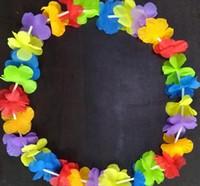 Fashion Hot Party Supplies Silk Hawaiian Flower Lei Garland Hawaii Wreath Cheerleading Products Hawaii Necklace