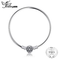 Jewelrypalace 925 Sterling Silver Elegant Heart Clasp Bangle...