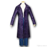 الانتحار فرقة malidaike هالوين معطف سترة جلدية طويلة جاريد ليتو جوكر تأثيري حلي أزياء نمط