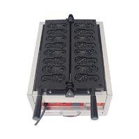 BEIJAMEI comercial antiaderente leão forma bolo Waffle Maker máquina elétrica fabricante de waffle Baker máquina para venda