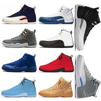 12 12s Michigan XII Mans scarpe da basket scarpe da ginnastica rosse nero taxi giochi gamma blu grigio sport scarpe da corsa per gli uomini US 5.5-13