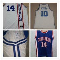 6a4727c88504 Cheap  14 Oscar ROBERTSON Cincinatti Royals Vintage  10 Bibby Throwbacks  Basketball Jerseys