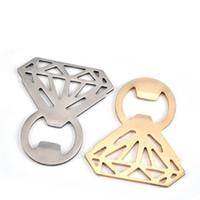 El anillo de diamante en forma de abridor de botellas Abridor de botella de cerveza de acero inoxidable de diamante Ahuecar abridor de anillo abridor Herramientas de cocina creativas