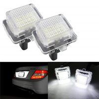 2PCS الذيل 18 LED عدد مصباح ضوء الترخيص لوحة لمرسيدس بنز W204 W212 C207 C216 W221 S204 السيارات الخفيفة