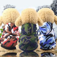 New Hot Fashion Pet Dog Puppy Costumi Camo Felpe con cappuccio Felpa con cappuccio Pullover Abiti Abiti Taglia XS-2XL