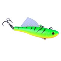 5pcs 6. 5cm 17g Winter Sea Hard Fishing Lure VIB Bait With Le...