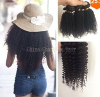 Peruvian virgin hair afro kinky curly hair 3pcs lot 10- 26inc...