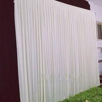 3 متر * 3 متر خلفية لأي لون حزب ستارة مهرجان الاحتفال مرحلة الزفاف أداء الخلفية ثنى ثنى جدار فالين backcloth