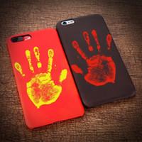 Alterar a cor mágica Fingerprint termossensível Calor Temperatura caso capa sensível sensor para iPhone 11 Pro Max XS XR X 8 7 6 6S Além disso,