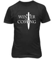T- shirt WINTER IS COMING maglietta unisex Games of Thrones -...