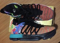 Mens Kevin Durant 10 X What The Confetti Multicolor Basketba...