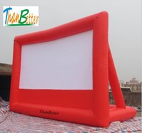 16: 9 Outdoor Movie inflatable mobile screen, Inflatable Air ...