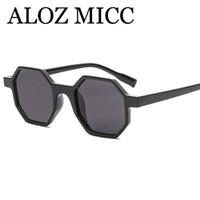 Aloic mic أحدث خمر المضلع نظارات المرأة أزياء العلامة التجارية مصمم المثمن الساخن النظارات الإناث ظلال uv400 a520