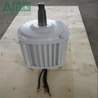 500w / 0.5kw 400RPM 낮은 RPM 수평 바람 수력 발전기 / 영구 자석 수력 dynamotor 수력 터빈