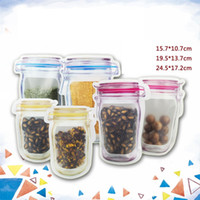 Wholesale Mason Jar Shaped Food Container Plastic Bag Clear ...