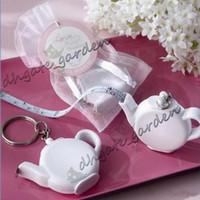 Miłość to parzenie czajniczek plastikowa taśma pomiarowa brelok przenośny mini kluczowy łańcuch ślub świąteczny prezent przysługi