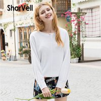 SharVell New Spring&Autumn Women Sweater Solid White Basic K...