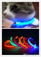 A08 USB 충전식 애완 동물 애완 동물 LED 가벼운 애완 동물 강아지 나일론 라이트 칼라 조명 목걸이 무료 배송