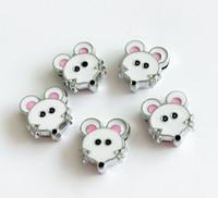 10 pz 8mm smalto mouse charms diapositive lettere fai da te accessori misura 8mm polsino nome cane collari cinghie telefono strisce
