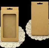 Kraft Brązowy Czarny Biały Pakiet Detaliczny Box Pack Wewnętrzny uchwyt na telefon iPhone X 5 6 7 8 plus Samsung Galaxy S6 S7 Edge S8 S9