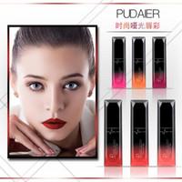 NOVA Hot Maquiagem Marca Pudaier 21 cores Matte Líquido Batom Matallic Shimmer Lip Gloss Lip Balm Moda Feminina Presente DHL grátis
