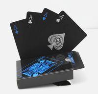 Reusable الأسود البلاستيك بوكر للماء الجدول اللعب بطاقات ماجيك بوكر بطاقات حزب العائلة لعبة أداة 1 مجموعة / وحدة (54 قطعة / مجموعة)