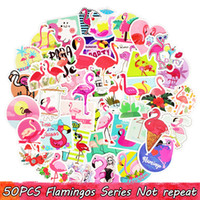 50 UNIDS Flamingo Series Summer Amorous Feelings Sticker Lindo Dream Stickers Teen DIY Skateboard Mobile Guitar Dresser Decoración Del Hogar Etiqueta de la Tendencia