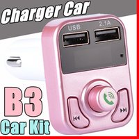 B3 Hands Free Wireless Bluetooth Car Trasmettitore FM Modulatore AUX Car Kit Lettore MP3 Caricabatterie USB SD Accessori per auto