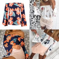 Off The Shoulder Tops For Women Summer 2018 New T Shirt Wome...