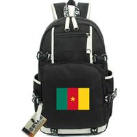 الكاميرون Daypack حقيبة على ظهره جمهورية CMR العلم صور المدرسية لافتة الوطني حقيبة قماش حقيبة مدرسية حزمة اليوم في الهواء الطلق