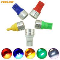 FEELDO 50PCS CAR DC12V T10 194/168 W5W 1W Wedge LED-lampor med keramisk plattlins 5-färg # 4639