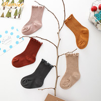 2018 New Boutique socks Princess Girls children Ruffle Edge ...